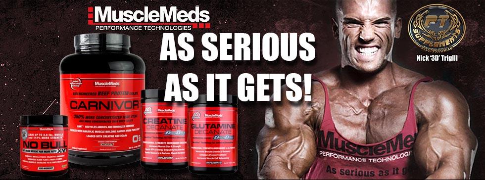 MuscleMeds gamintojo papildai