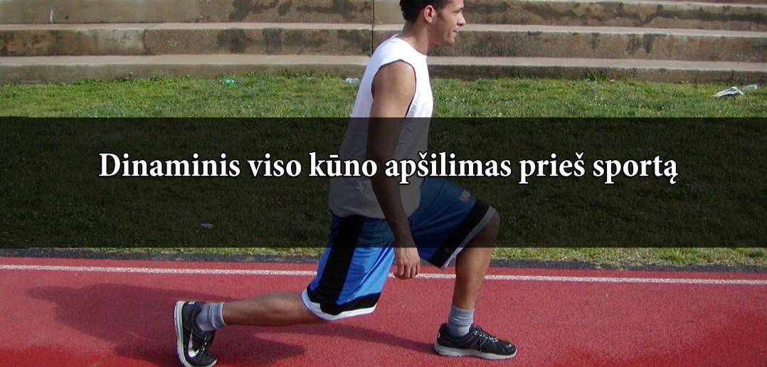 Dinaminis visko kūno apšilimas prieš treniruotę