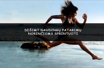 Dešimt patarimų moterims apie sprintą