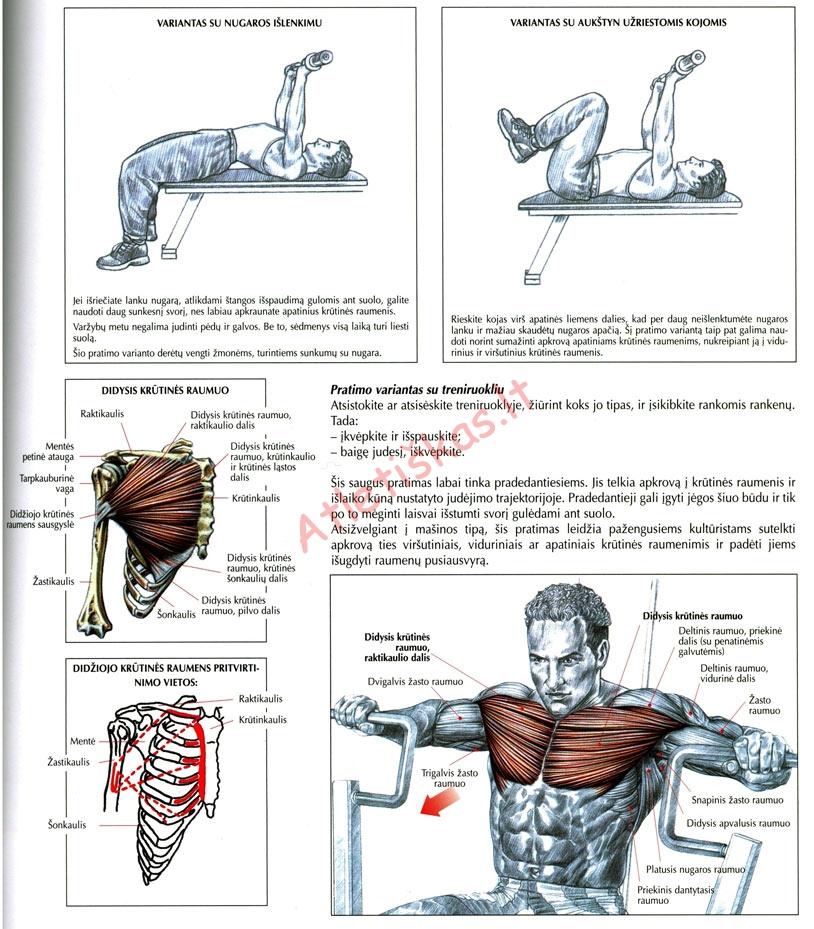 Spaudimas nuo krūtinės su treniruokliu